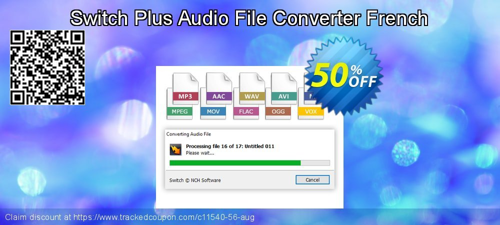 Get 50% OFF Switch Plus Audio File Converter French offer
