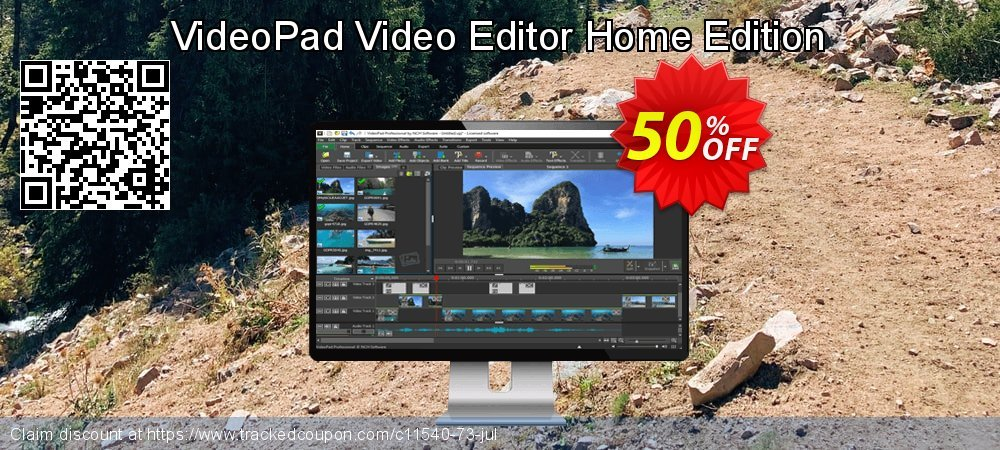 VideoPad Video Editor Home Edition coupon on New Year's Day offer