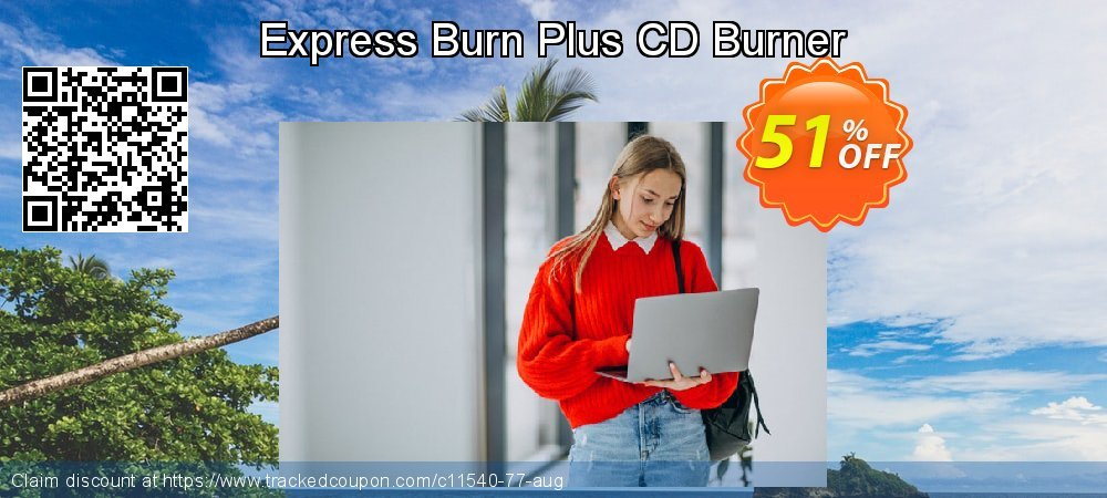 Express Burn Plus CD Burner coupon on New Year's Day super sale