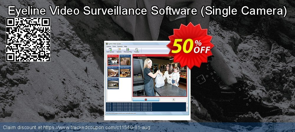 Get 15% OFF Eyeline Video Surveillance Software - Single Camera offering sales
