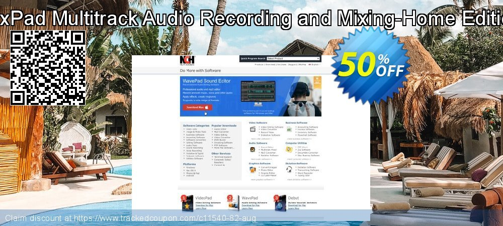 MixPad Multitrack Audio Recording and Mixing-Home Edition coupon on Happy New Year offer