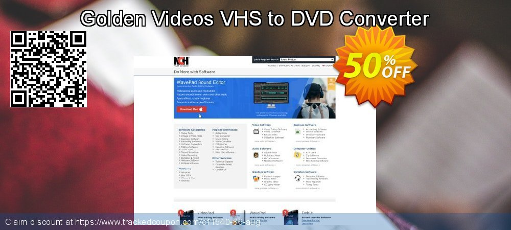 Golden Videos VHS to DVD Converter coupon on Happy New Year super sale