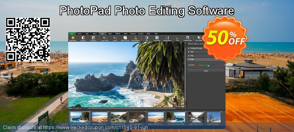 PhotoPad Photo Editing Software coupon on Lunar New Year offer