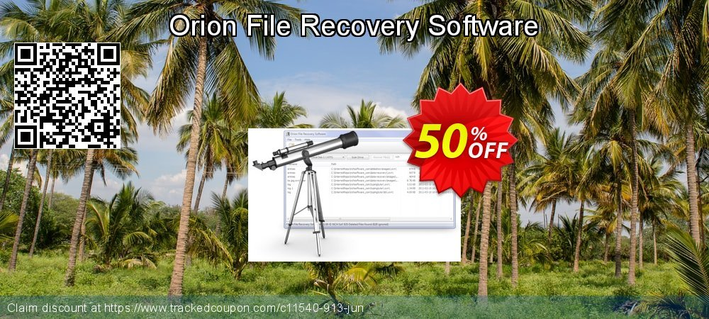 Orion File Recovery Software coupon on New Year's Day offering sales
