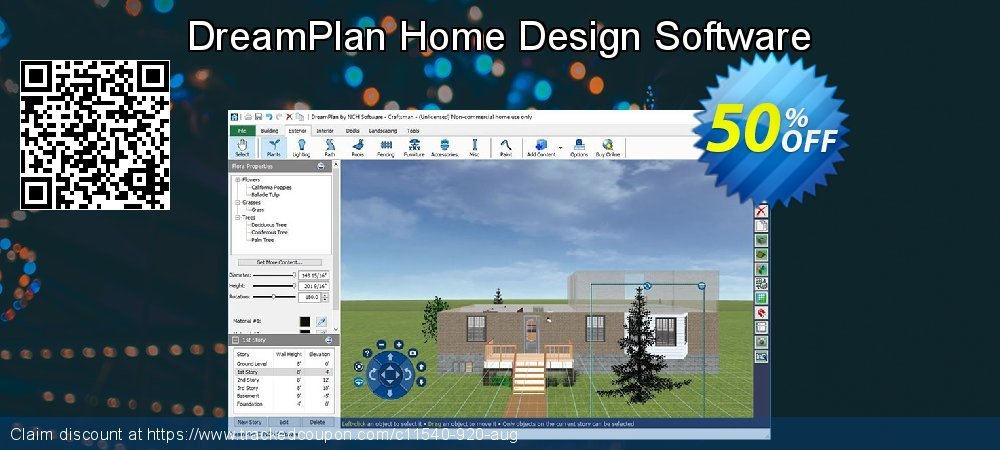 DreamPlan Home Design Software coupon on New Year discount
