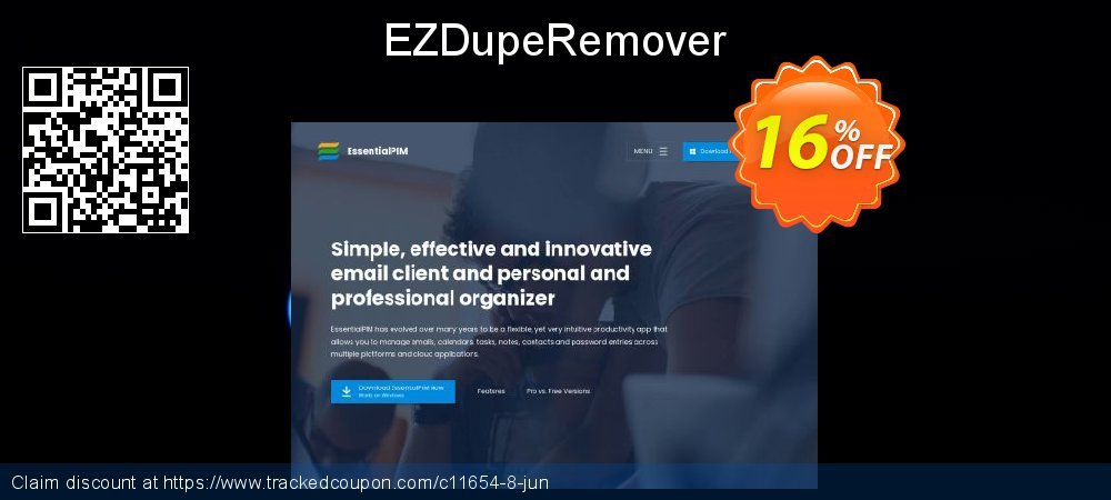 EZDupeRemover coupon on New Year super sale