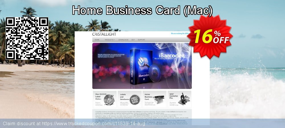 Get 15% OFF Home Business Card (Mac) offering sales