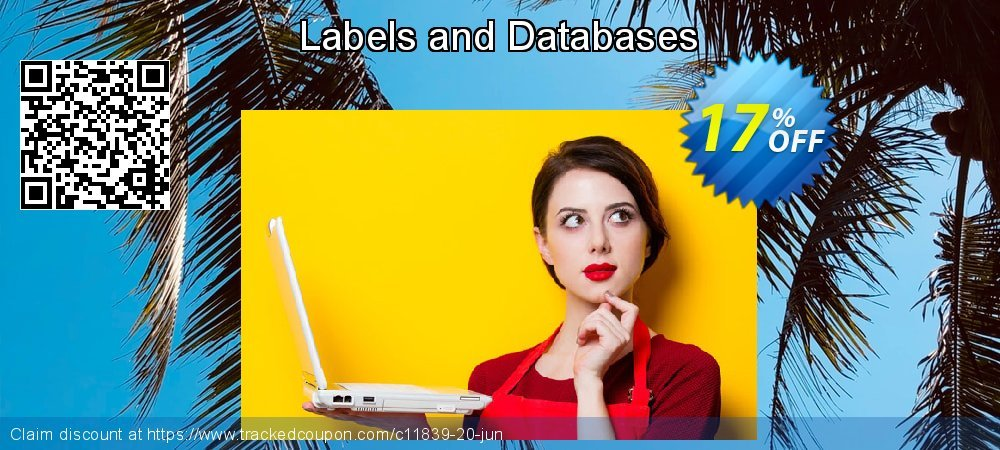 Labels and Databases coupon on New Year offering sales