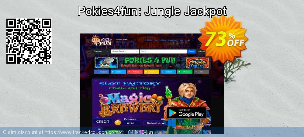 Get 70% OFF Pokies4fun: Jungle Jackpot sales