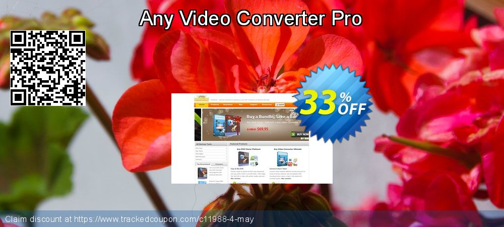 Any Video Converter Pro coupon on Back to School season deals