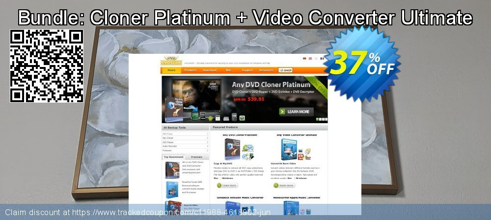 Bundle: Cloner Platinum + Video Converter Ultimate coupon on Back to School season sales