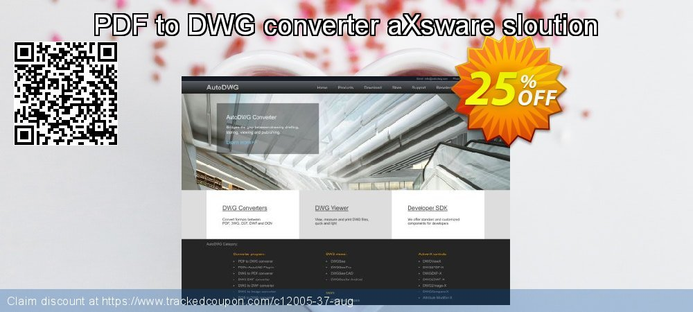 PDF to DWG converter aXsware sloution coupon on Black Friday sales