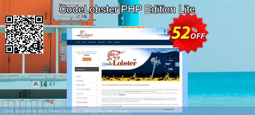 Get 50% OFF CodeLobster PHP Edition Lite offering deals