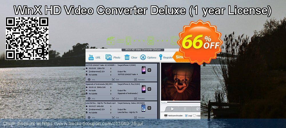 Get 60% OFF WinX HD Video Converter Deluxe offer