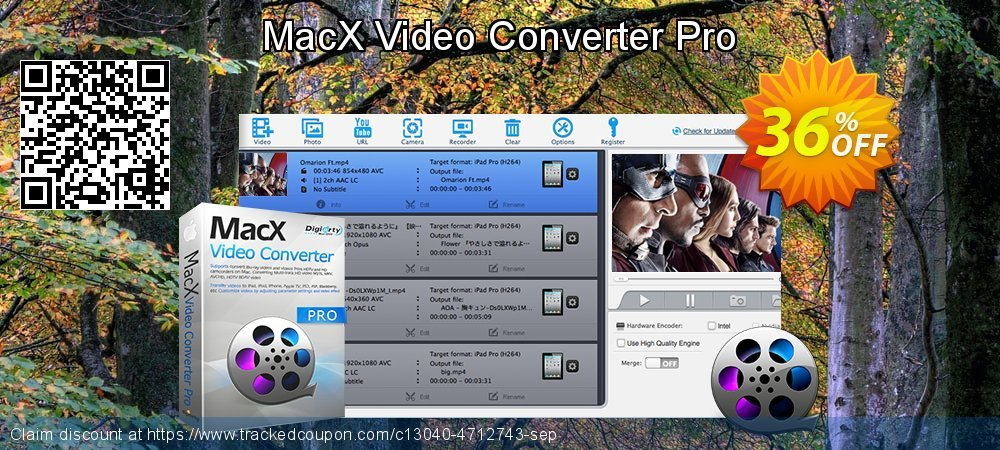 MacX Video Converter Pro coupon on Back to School promotion discounts