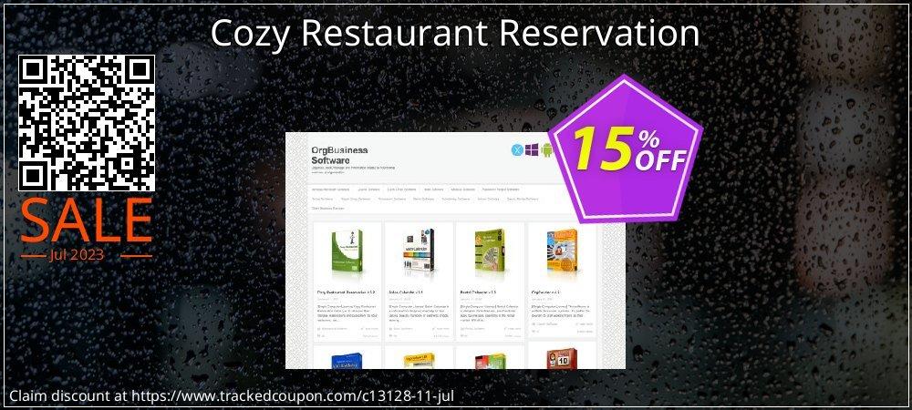 Cozy Restaurant Reservation coupon on Halloween discounts