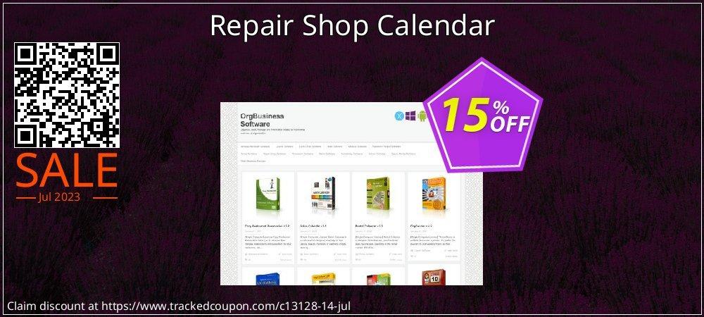 Get 15% OFF Repair Shop Calendar offering sales