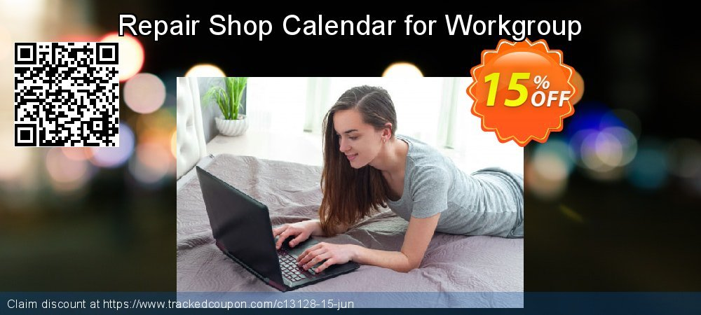 Repair Shop Calendar for Workgroup coupon on Halloween offer