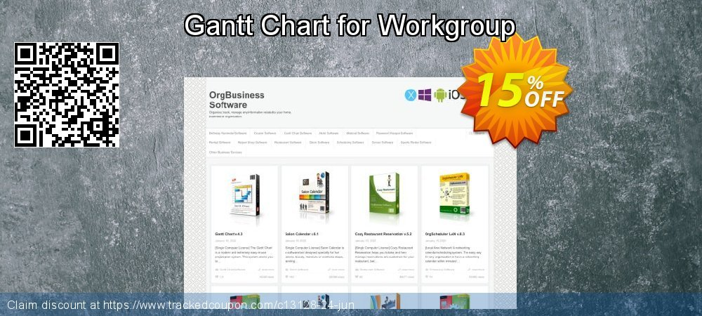 Get 15% OFF Gantt Chart for Workgroup offering deals