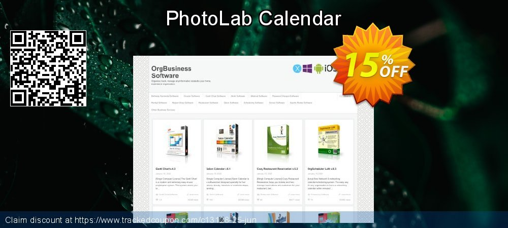 PhotoLab Calendar coupon on Black Friday offering discount