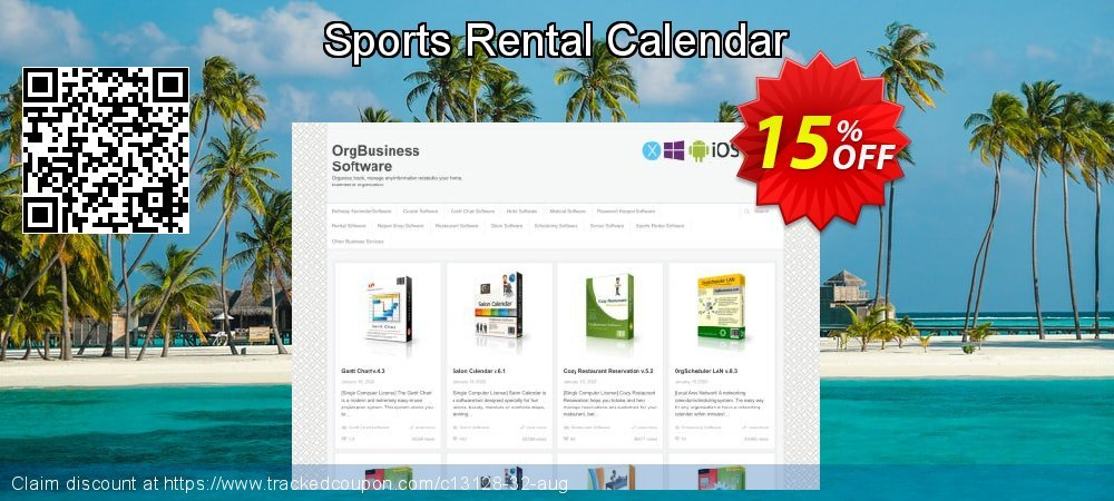 Sports Rental Calendar coupon on New Year deals