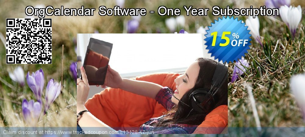 Get 15% OFF OrgCalendar Software - One Year Subscription offering sales