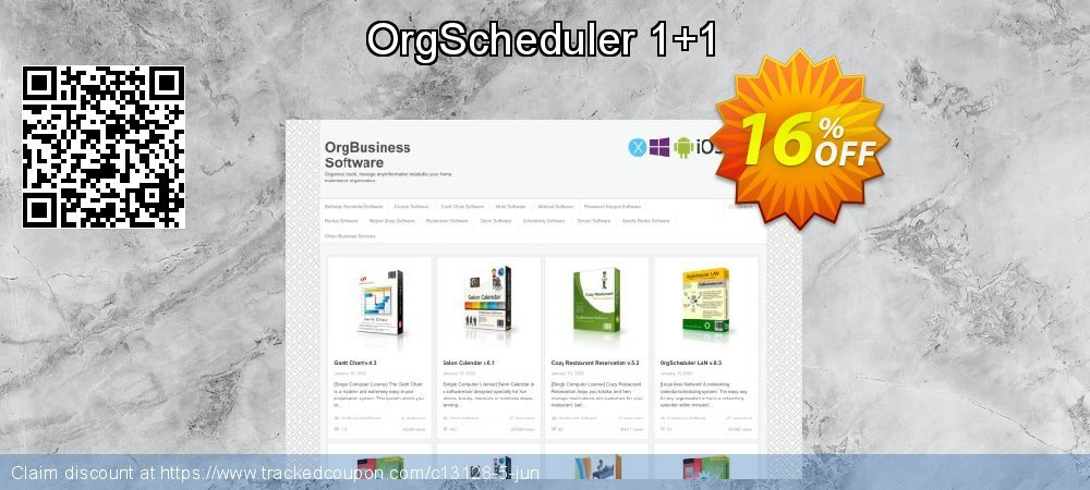 OrgScheduler 1+1 coupon on Back to School promotions sales