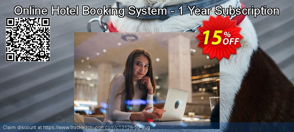 Get 15% OFF Online Hotel Booking System - 1 Year Subscription offering sales