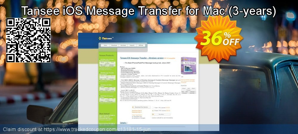 Tansee iOS Message Transfer for Mac - 3-years  coupon on Halloween deals