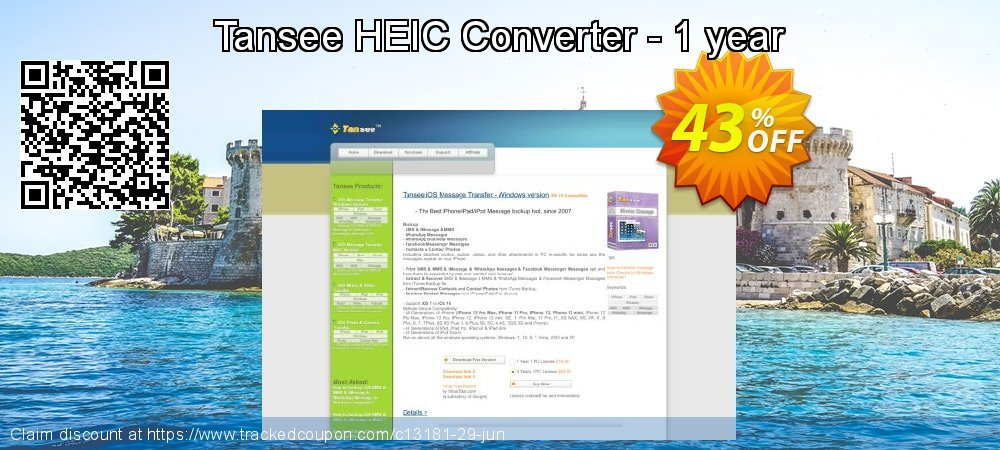 Tansee HEIC Converter - 1 year coupon on Exclusive Student deals offering sales
