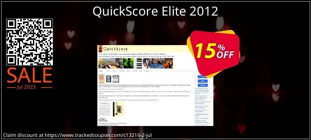 Get 15% OFF QuickScore Elite 2012 offer
