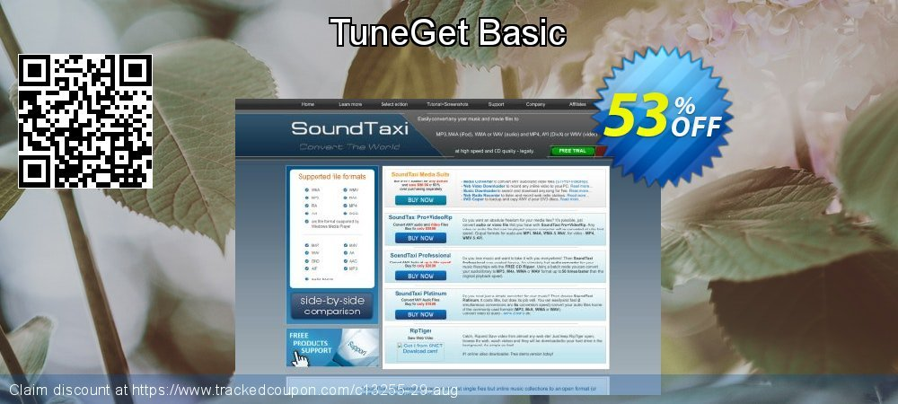 Get 51% OFF TuneGet Basic discounts