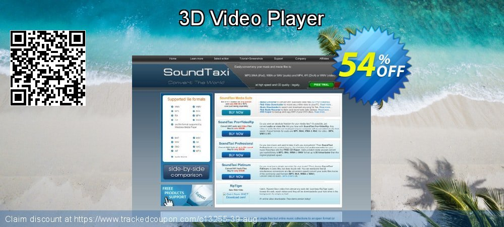 Get 50% OFF 3D Video Player offering sales