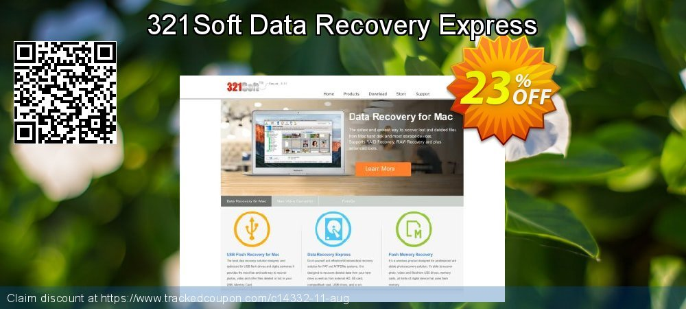 Get 20% OFF 321Soft Data Recovery Express promo