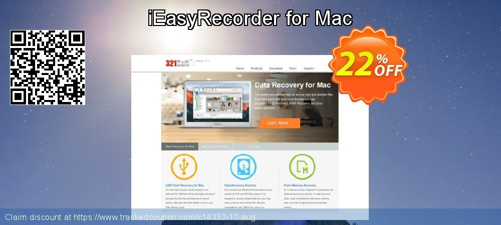 Get 20% OFF iEasyRecorder for Mac promo
