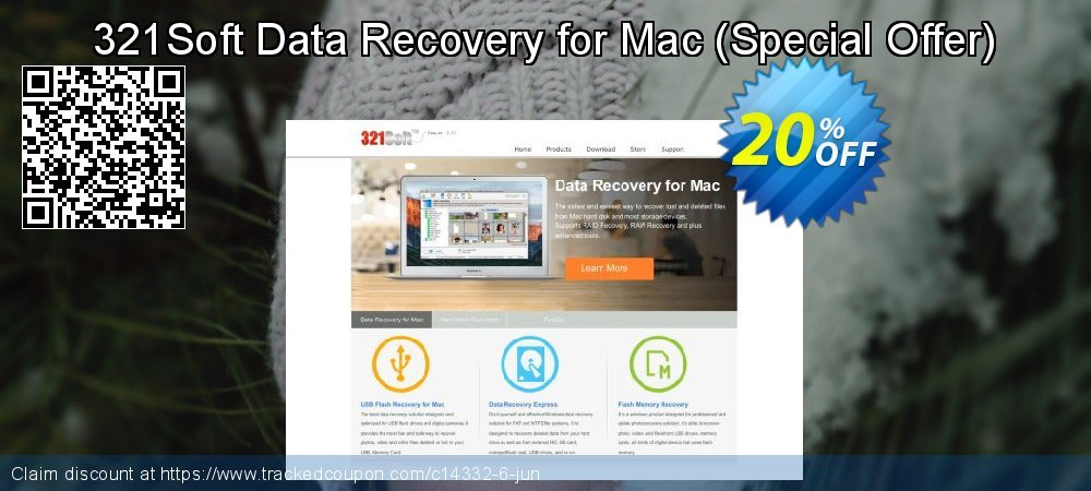 Claim 20% OFF 321Soft Data Recovery for Mac (Special Offer) Coupon discount June, 2019