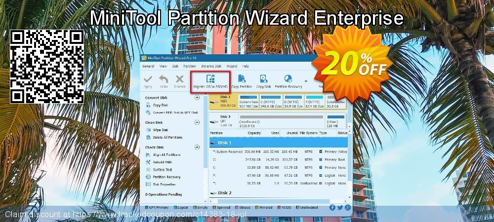 MiniTool Partition Wizard Enterprise coupon on Mom Day offering discount