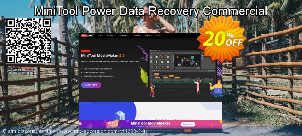 MiniTool Power Data Recovery Commercial coupon on April Fool's Day discounts