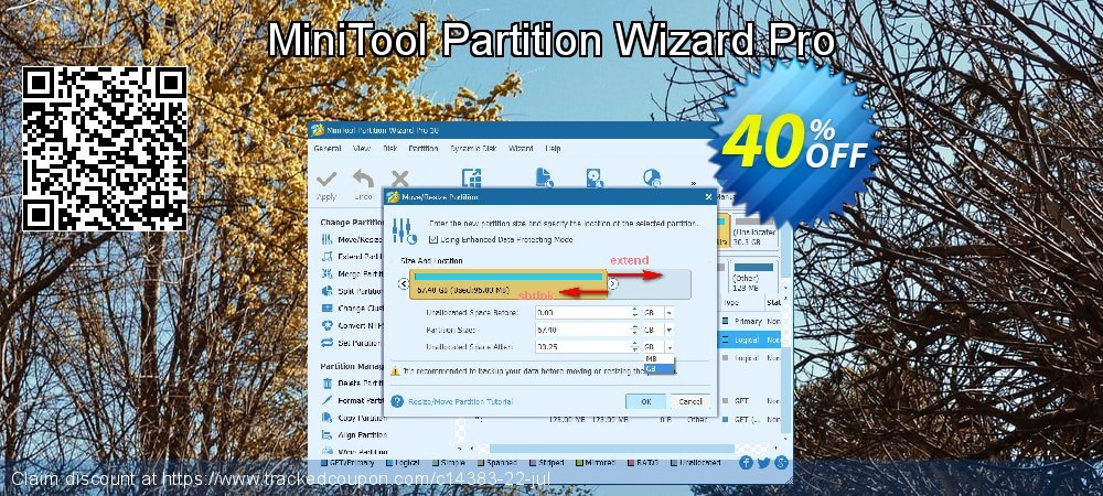 MiniTool Partition Wizard Pro coupon on Halloween offering discount