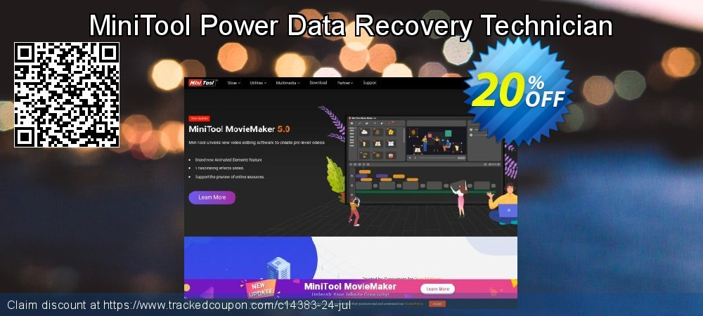 Claim 20% OFF MiniTool Power Data Recovery Technician Coupon discount May, 2021