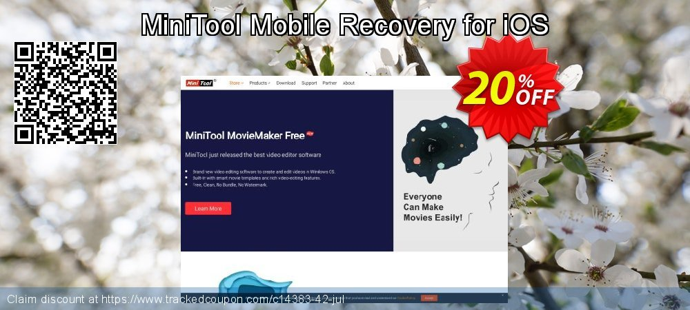 Get 20% OFF MiniTool Mobile Recovery for iOS Standard 1.4 promo