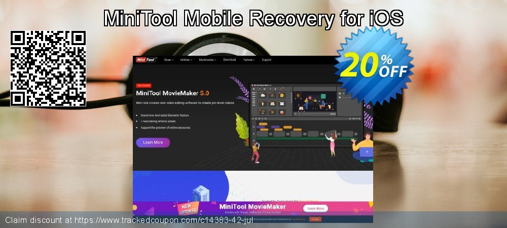 MiniTool Mobile Recovery for iOS coupon on Mom Day deals
