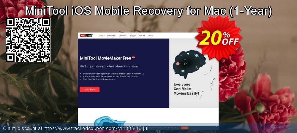 Get 20% OFF MiniTool iOS Mobile Recovery for Mac standard 1.4 offering sales