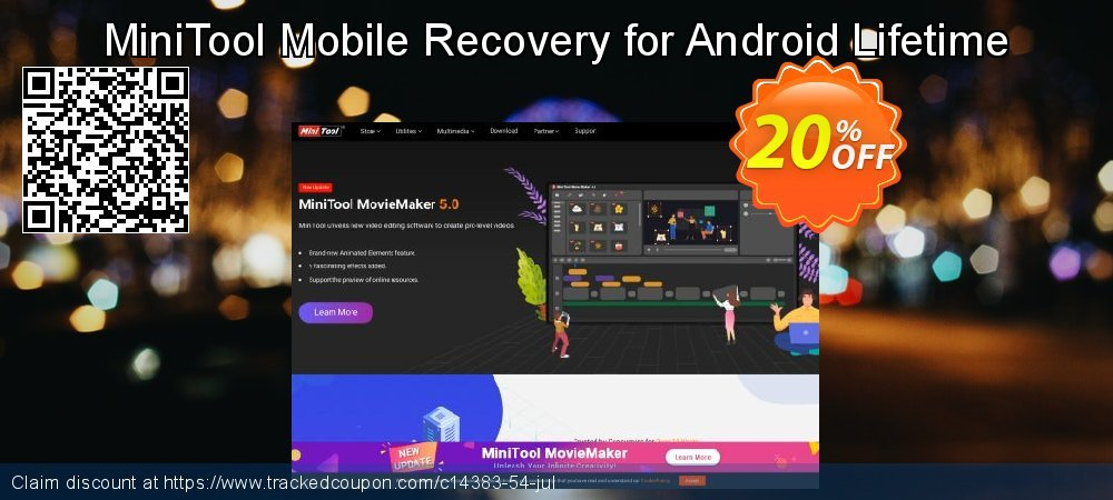 Claim 20% OFF MiniTool Android Recovery Free Lifetime Upgrade Coupon discount July, 2019