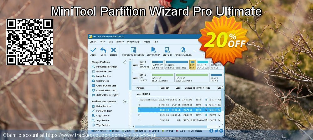 MiniTool Partition Wizard Pro Ultimate coupon on Halloween deals