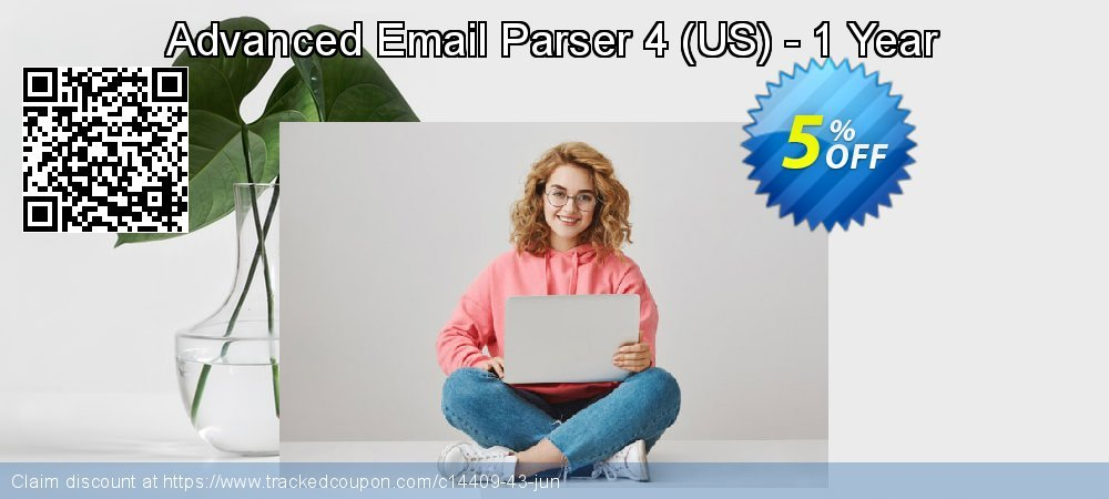 Get 5% OFF Advanced Email Parser 4 (US) - 1 Year promo