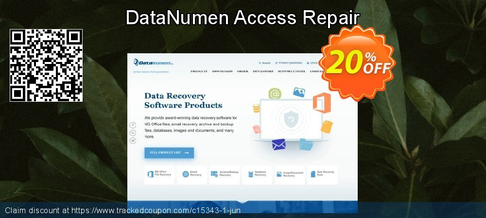 DataNumen Access Repair coupon on Black Friday promotions