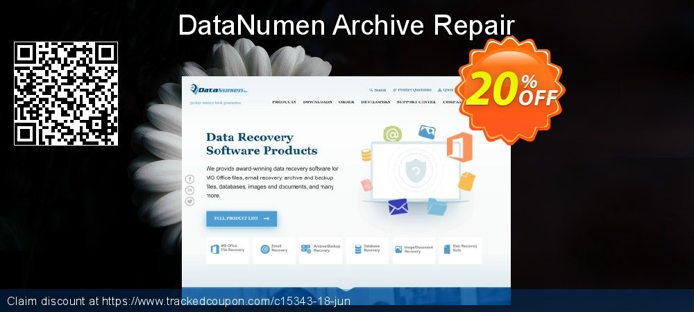 DataNumen Archive Repair coupon on Summer offer