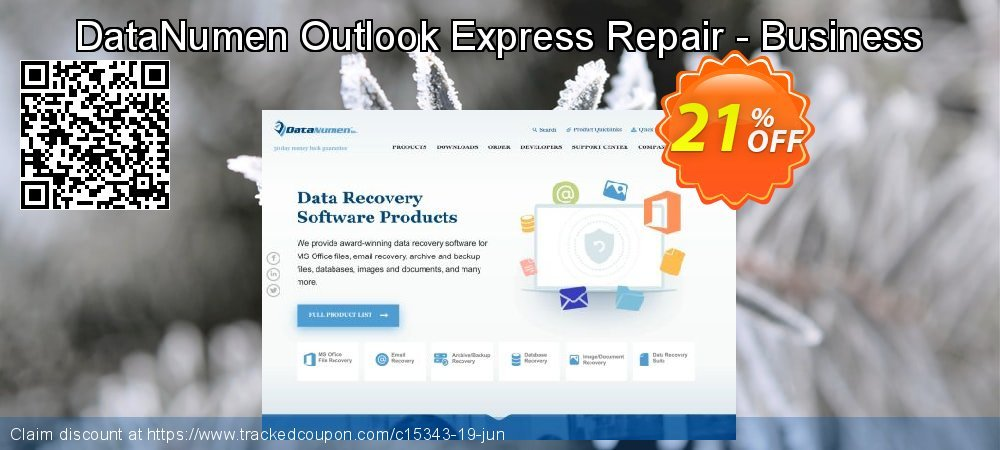 DataNumen Outlook Express Repair - Business coupon on Int. Workers' Day offer