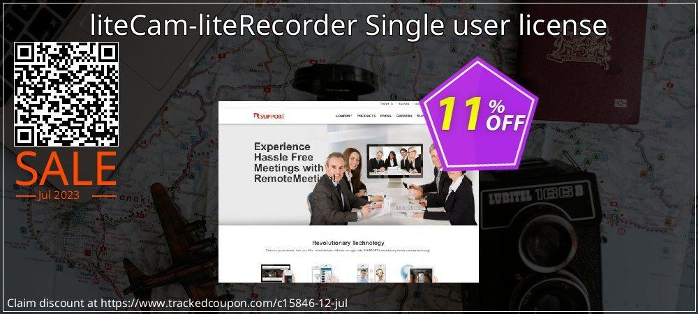 liteCam-liteRecorder Single user license coupon on Int'l. Women's Day deals